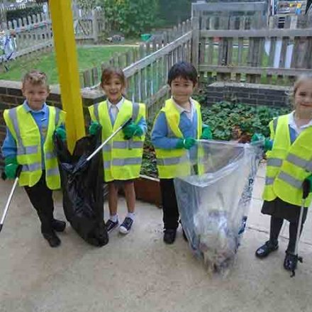 Eco Council gets to grips with litter