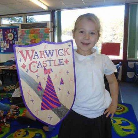 Decorated Warwick Castle shields – Y2