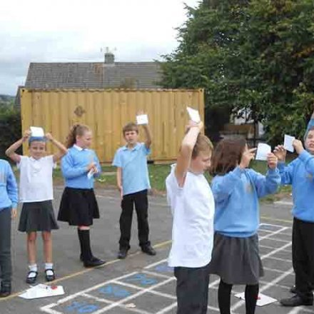 Place value games outdoors – Y5