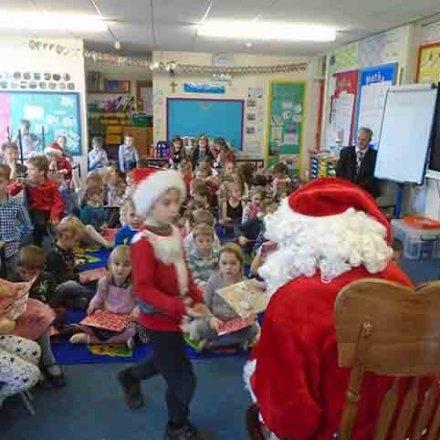 Father Christmas visits KS1