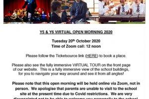 Pate's Year 7 Open Mornings Autumn 2020_